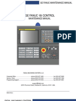 GE Fanuc 18i Maintenance Manual