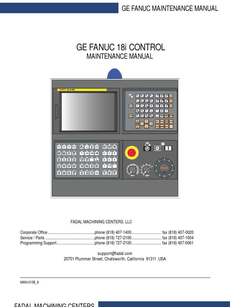 ge fanuc 18i maintenance manual coolant lubricant rh scribd com