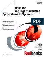 Considerations for Transitioning Highly Available Applications to System z