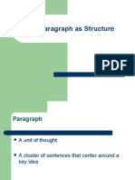 The Paragraph as Structure