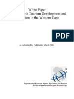 Sustainable Tourism Development and Promotion in the Western Cape