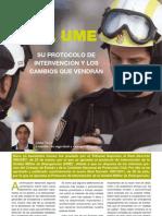 Tovar, Jaime. 2011. La UME. Su protocolo de intervención y los cambios que vendrán. Emergencia 112, 89,12-14