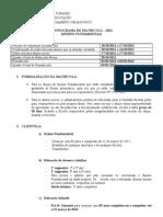 CRONOGRAMA DE MATRÍCULA