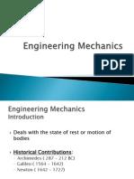 Engg Mechanics -Intro