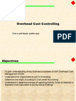 Overhead Cost Controlling