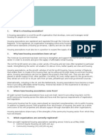 Housing associations factsheet May 2008