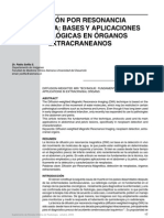 Difusion y Aplicaciones Oncologico en Organos Extra Crane a Nos