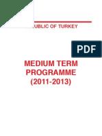 2011-2013 Medium-Term Programme