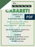 Cabaret Benefit Concert