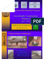 Management Development Program  Eco-friendly Construction Practices