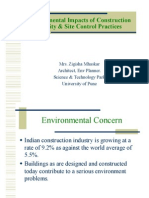 nvironmental Impacts of Construction Activity & Site Control Practices