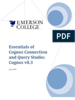 Essentials of Cognos Connection and Query Studio v8 3