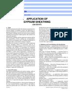 Gypsum Board Application
