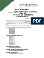 Acta de Entrega Reportes