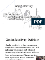 Gender Sensitivity