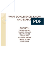 What Do Audiences Know and Expect
