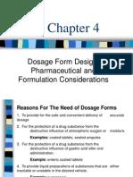 C - 4 Dosage Form Design