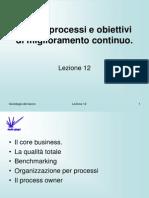 Sociologia del lavoro 12 - Miglioramento continuo