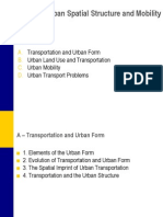 Urban Spatial Structure and Mobility by ORM