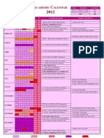 2012 Tentative Academic Calendar of Maldives [Oct 12]
