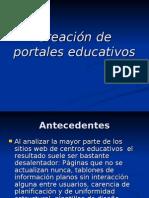 Creación de portales educativos