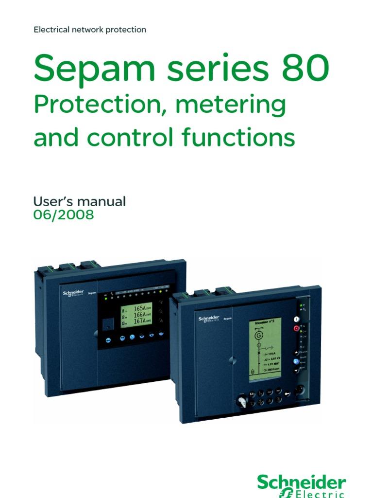 sepam s80 manual ac power relay rh scribd com