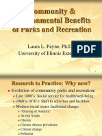 Community and Environmental Benefits of Parks and Recreation