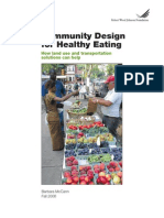 Community Design for Healthy Eating