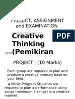 Project Pemikiran Kreatif
