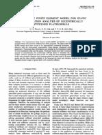 g. s. Palani, n. r. Iyer and t. v. s. r. Appa Rao - Finite Element Analysis of Eccentrically