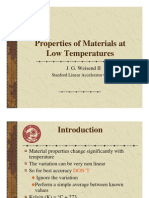 Low Temperature Properties
