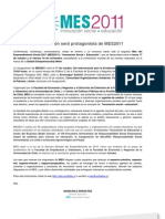 Comunicado de Prensa del MES 2011