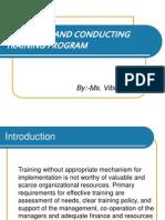 Designing and Conducting Training Program