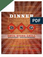 DSG Dinner Menu
