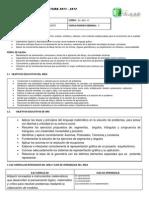 Plan Anual Geometria 2011 - 2012