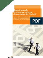 Opérations de croissance externe des sociétés du CAC 40