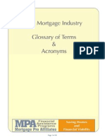 glossary of mortgage banking terms