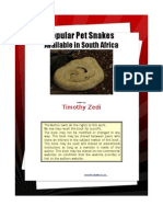 Popular Pet Snakes Available in South Africa eBook