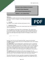 Handout 3 - Java Language Basics