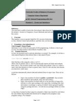 Handout 5 - Classes & Inheritance