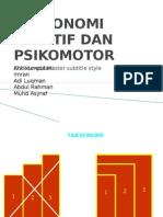 Taksonomi Afektif Dan Psikomotor