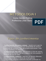 Metodologia I 1a Aula Power Point Ppt