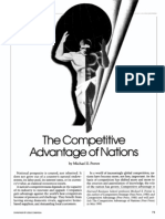 Michael Porter - The Competitive Advantage of Nations (cover story)