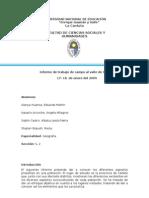 Informe de trabajo de campo al valle de Cañete