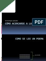 acercamiento a la poesía