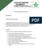 cuestionario Del Programa de Formacion