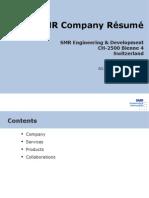 Smr Company Resume