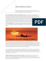 10 Reasons Why Airline Industry is Unique