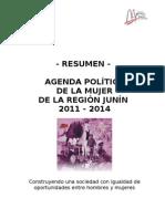 Resumen de La Agenda Politica de La Mujer de La Region Junin