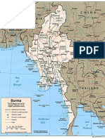Map of Myanmar (Politic)